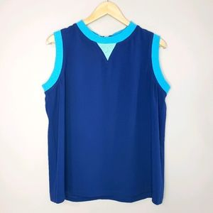 🦋3/$25 Faconnable Sleeveless Blue Size 14 Top